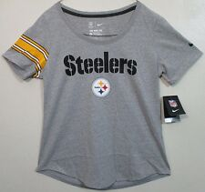Nike NFL Pittsburgh Steelers Logo Gray T-Shirt Women's Large (L) New with Tags