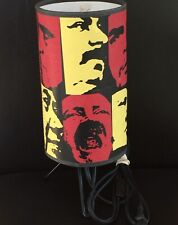 Frank Kozik Custom Made Pop Art Red Yellow Black Graphic Funky Style Desk Lamp