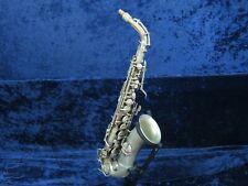 *CG Conn Chu Berry Silver LP Alto Saxophone Ser#M193134 Gold Wash Bell Needs OVH