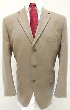 Stafford Blazer 44R Herringbone Wool 3 Button Vented Sport Jacket Multicolor Tan