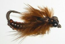 WIGGLE BUG!! Jointed Brown Dragonfly Nymph SIZE 8 (per 3)