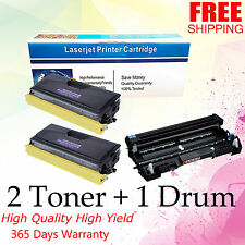 3PACK TN460 Toner DR400 Drum Combo for brother HL 1230 1440 Intellifax 4100e
