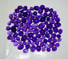 100 CT WHOLESALE LOT NATURAL BRAZIL PURPLE AMETHYST CABOCHON RING SIZE GEMSTONE