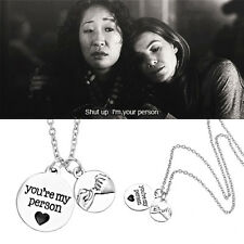 Free Shipping Grey's Anatomy inspired necklace with qoute: You're My Person