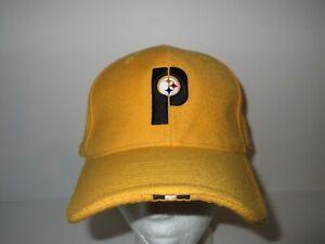 Vintage 90s Nike Pittsburgh Steelers Wool Fitted Hat Cap 7 5/8