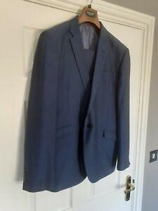 Mens Navy Slim Fit Suit - 46R Jacket 40R Trousers - Cedar Wood State Immaculate