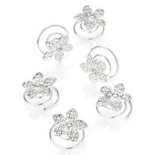 Accessoires de coiffure métalliques en cristal pour la mariée