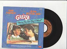 "TRAVOLTA +  OLIVIA NEWTON-JOHN  "" YOU'RE THE ONE THAT I WANT  "" GREASE 45 Tr"