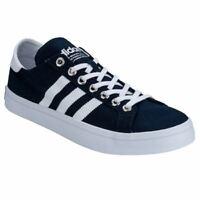 Men's adidas Originals Courtvantage Lace up Canvas Trainers in Blue