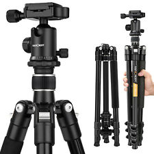 K&F Concept Aluminum Tripod for Canon Nikon Sony DSLR Camera DV Silver Ball Head