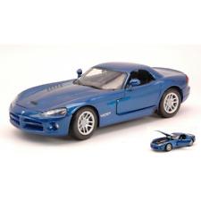 DODGE VIPER SRT-10 2003 BLUE METALLIC 1:24 MotorMax Auto Stradali Die Cast