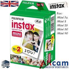 Nuevo Fuji Instax Mini Película Para FujiFilm Mini 8 7s y Mini 90, 50 cámaras 20 Fotos