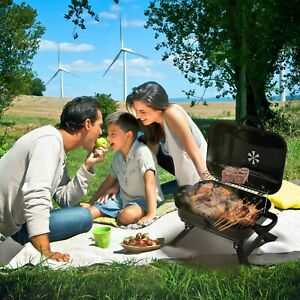 Foldable Charcoal Grill, Portable Barbecue Grill for Outdoor Barbecues 17 inches