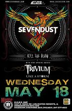 Sevendust /Kill The Flaw /Trivium /Like A Storm 2016 Chicago Concert Tour Poster