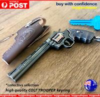 Colt Python Keyring Gun Model Keychain Gun Replica Colt 357 Trooper Revolver Gun
