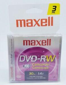 Maxell DVD-RW 3-pack Camcorder (30 min | 1.4 GB)