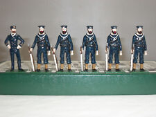 FUSILIER ROYAL NAVY NAVAL SAILORS BLUES AT EASE METAL TOY SOLDIER FIGURE SET