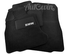 BMW 1 Series F20 F21 2010-2017 Black Carpets With BMW Emblem Clips Tailored LHD