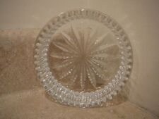 VINTAGE WATERFORD CRYSTAL CUT GLASS WINE BOTTLE COASTER HOLDER SEAHORSE