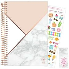 2021 Color Blocking Marble Calendar Year Daily Planner Agenda 12 Month Jan - Dec
