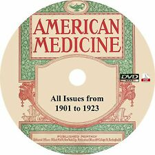 American Medicine {273 Issues, 1901-1923} Medical Journal on DVD