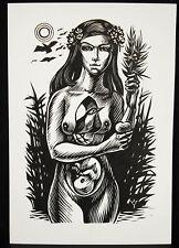 Ex libris c1970 par Frank-Ivo VAN DAMME femme nue naked woman