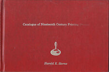Catalogue of 19th Century Printing Presses by Harold Stern 1978 hc lithographic