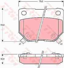 TRW REAR BRAKE PADS FOR NISSAN SKYLINE R32 R33 R34 300ZX SUBARU IMPREZA WRX