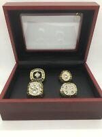 4 Pcs Edmonton Oilers Ring Set Wayne Gretzky Hockey Championship Ring Set