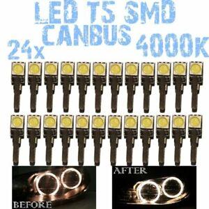 N° 24 bulbs LED T5 white 4000K SMD 5050 for headlights Angel Eyes DEPO FK 1E1US