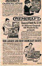 1929 small Print Ad of Chemcraft Chemical Outfit No 5 10 & 15