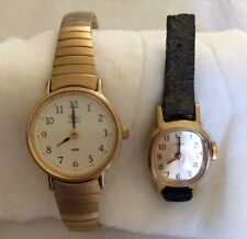 Cocktail Watches Timex for Parts/Repair Vintage lot of 2 Ladies