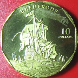 1998 MARSHALL ISLANDS $10 BREDERODE NETHERLANDS FLAGSHIP DUTCH NAVY RARE COIN!