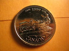 Canada 1999 June 25 Cent Mint Coin.