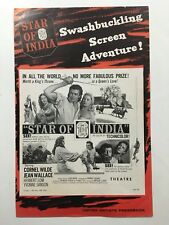 """STAR OF INDIA Pressbook 1954 8pages 11"""" x 16""""  Movie Poster Art 407"""
