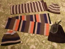 2 KNITTED HAT AND SCARF SETS PLUS EXTRA FLEECE HATS  – AGED 5 - 8