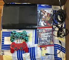 Sony Playstation 3 PS3 Super Slim Console 250 GB + 2 Controller & 2 games Bundle