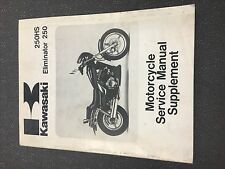 1988-1991 Kawasaki Eliminator 250 Service Manual Supplement 99924-1093-52