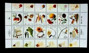 [SJ] Israel 12 Months Of Year 2002 Flower Book Vegetables Wedding Fruit (ms) MNH