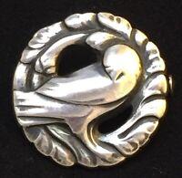 GEORG JENSEN 1933-44⚜️Sterling Silver Dove BROOCH/Pin #191 by GJ/ K MOEHL-HANSEN