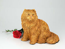 Small/Keepsake 62 Cubic Inches Orange Longhair Cat Resin Urn for Ashes