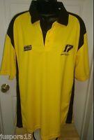 Checkered Flag Mens Womens 17 Yellow Black DeWalt Racing Polo Shirt Top Size L
