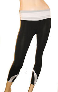 LULULEMON Run Inspire CROP II Yoga Pants DEEP COAL/SILVER SPOON Capri Sz 4