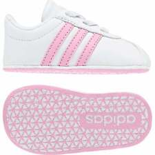 ADIDAS Infants VL Court 2.0 Crib Trainers (White / Pink)