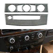 Carbon Fiber CD & AC Panel Trim Cover Sticker Fit for BMW 5 Series E60 2008-2010