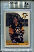 1985 OPC Hockey #9 Mario Lemieux Rookie Card Graded BGS NM MINT+ 8.5 O-Pee-Chee