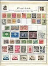 Iceland 3 Pages Unpicked 128 Stamps