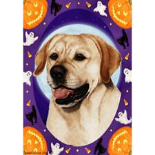 Yellow Labrador Retriever Halloween Howls Flag