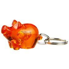 Gadget portachiavi forma di porcellino 'sorridente' macellaio salumeria ARANCIO