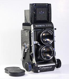 """Mamiya C330 + Sekor 2.8/80mm """"Blue Dot"""", Dichtungen neu,1 Jahr Gewährleistung"""